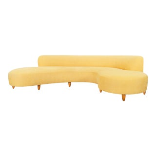 "Vintage ""Serpentine"" Sofa by Vladimir Kagan For Sale"