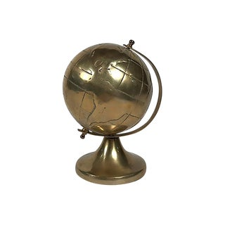 Brass Globe on Stand For Sale