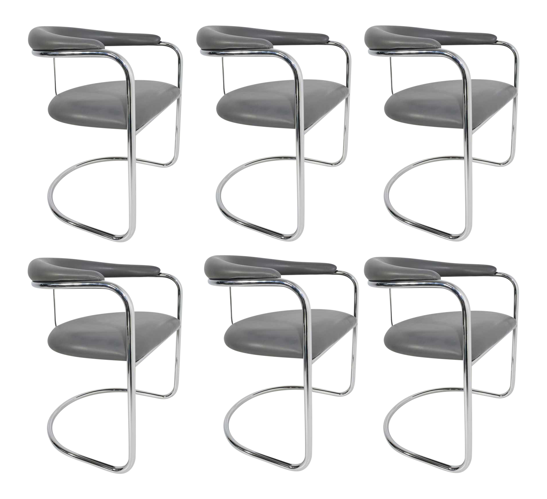 Anton Lorenz For Thonet Dining Chairs Model SS33   Image 1 Of 9