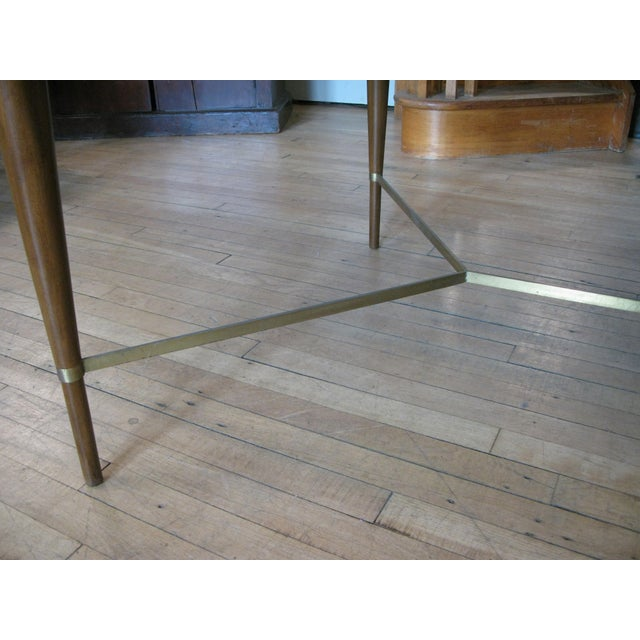 Metal 1950s Mahogany & Brass Extension Dining Table by Paul McCobb For Sale - Image 7 of 9