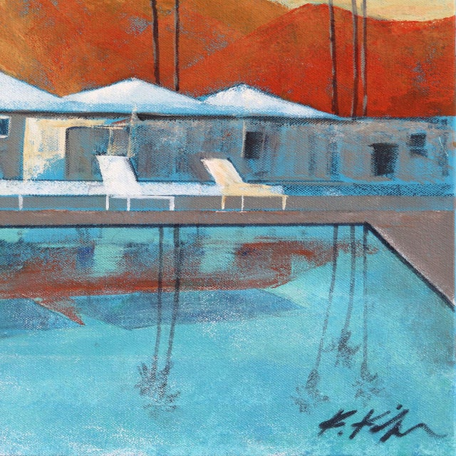 "2010s ""Mid Century Palm Springs Sunset"" Original Artwork by Kathleen Keifer For Sale - Image 5 of 8"