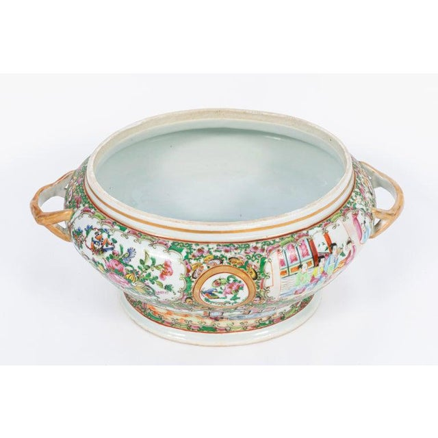 Late 19th Century 19th Century Rose Medallion Covered Tureen and Platter - 2 Pieces For Sale - Image 5 of 11