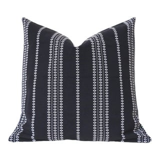 Black Boho Stripe Pillow Cover 22x22 For Sale