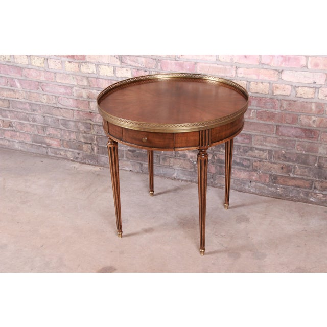 Baker Furniture French Regency Louis XVI Walnut Tea Table For Sale - Image 13 of 13