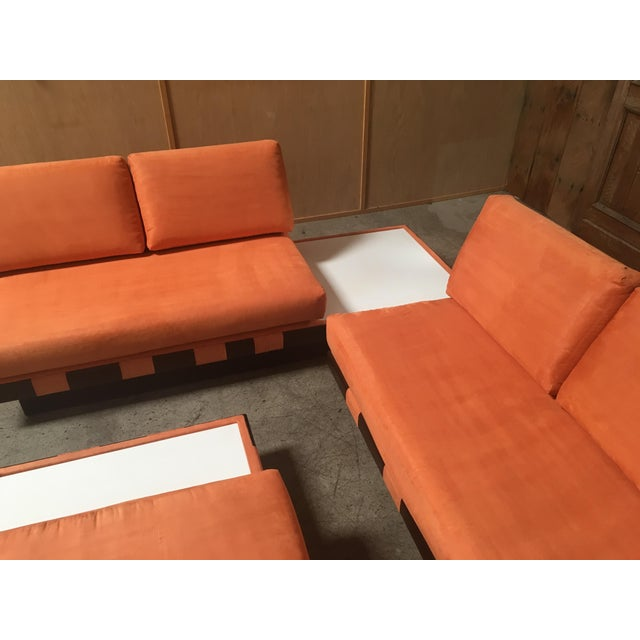 Mid 20th Century 20th Century Adrian Persall Style Sofa Sectional and Coffee Table - 3 Pieces For Sale - Image 5 of 13