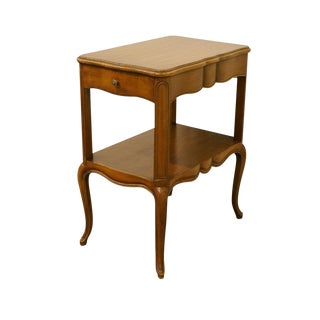 1940's Country Walnut Nightstand For Sale