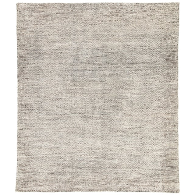Jaipur Living Shervin Hand-Knotted Chevron Dark Gray & Ivory Area Rug - 8' X 10' For Sale In Atlanta - Image 6 of 6