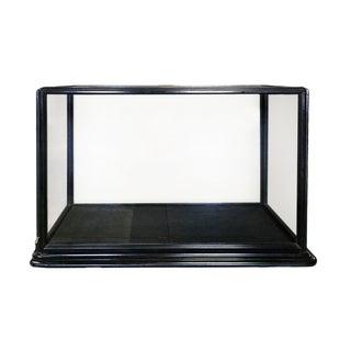 Display Case - English Black Wooden Frame Glass