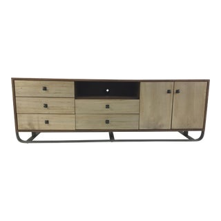 Organic Modern Two Toned Media Console For Sale