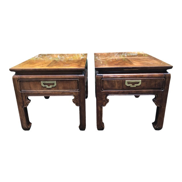 1980s Campaign Thomasville Mystique Side Tables - a Pair For Sale