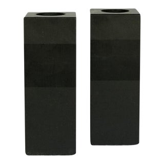 Vintage Harpswell House Slate Candle Holders - a Pair For Sale