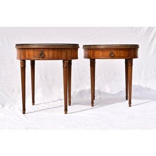 Henredon Bouillotte Tables, Pair Preview