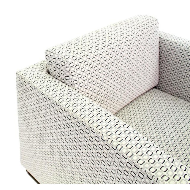 Fabric Pair of Bernhardt Upholstered Lounge Chairs For Sale - Image 7 of 9