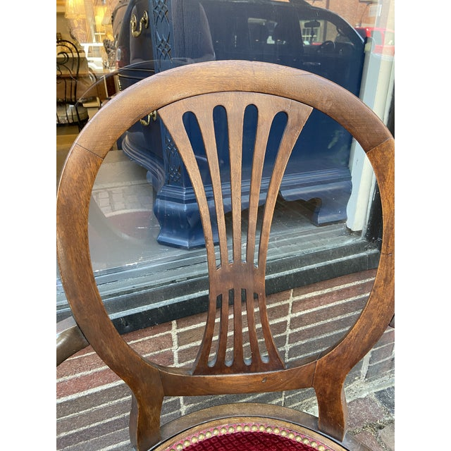Late 18th Century French Directoire Swivel Desk Chair For Sale - Image 4 of 8