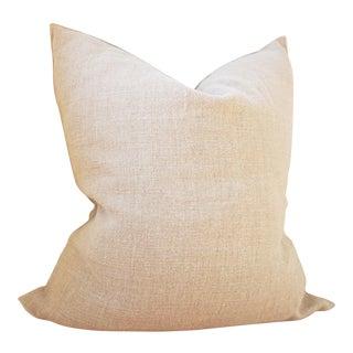 Natural Linen Pillow W/ Insert