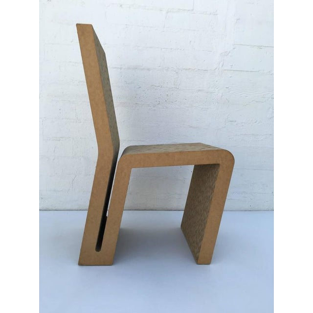 exceptional easy edges cardboard side chair by frank gehry decaso