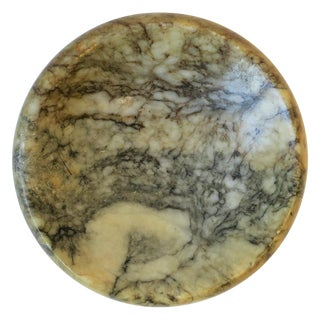 Modern Mini Italian Marble Round Trinket or Jewelry Dish For Sale