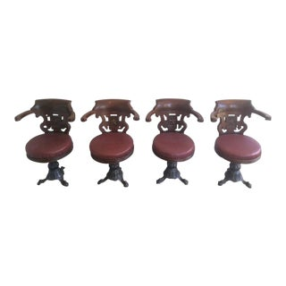 Rare Set of Four Ship Armchairs from Starline Company, Circa 1930