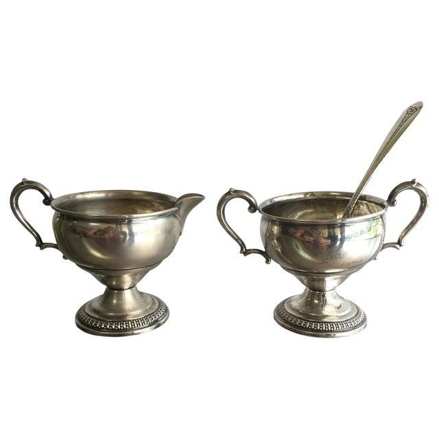Sterling Silver Creamer, Sugar, & Spoon - Set of 3 - Image 1 of 5