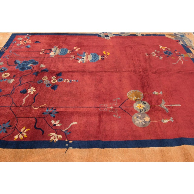 Apadana - Red Chinese Rug, 8' X 10' For Sale - Image 4 of 4