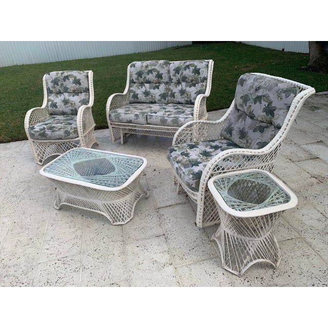 Russell Woodard Glider Loveseat & Glider Chairs Set - 5 Pieces For Sale - Image 13 of 13