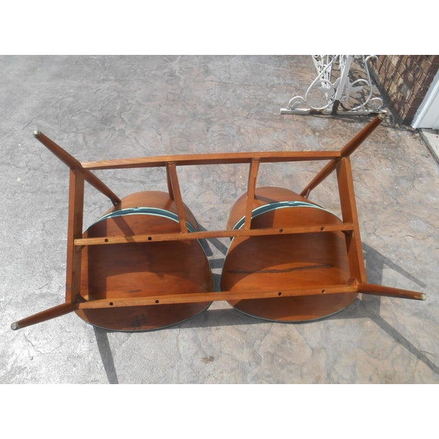 1960s 1960's Mid-Century Modern Kodawood Clamshell Bench Chairs For Sale - Image 5 of 9