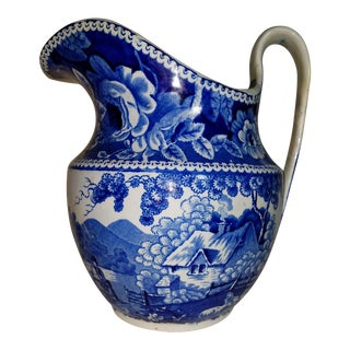 19th Century Staffordshire Water Pitcher