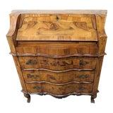 Image of Vintage Olivewood Secretary Desk For Sale
