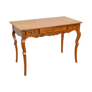 Quality Italian Provincial Style Fruitwood Writing Desk