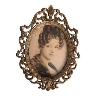 Late 19th Century Vintage Victorian Rococo Picture Frame For Sale