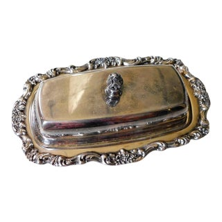 French Silver Butter Dish For Sale