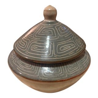1970s Gray Moroccan Lidded Pottery For Sale