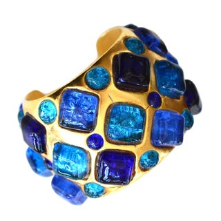 Dominique Aurientis Gilt Gripoix Cuff For Sale