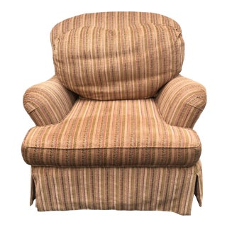 Century Furniture Down Filled Chenille Chair For Sale