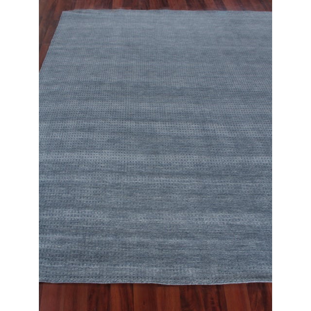 Contemporary Exquisite Rugs Worcester Handwoven Wool Denim Blue - 6'x9' For Sale - Image 3 of 8