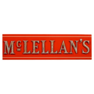 Antique McLellan's Store Sign For Sale