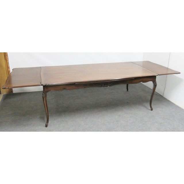 Queen Anne Louis XV Walnut Refractory Dining Table For Sale - Image 3 of 7