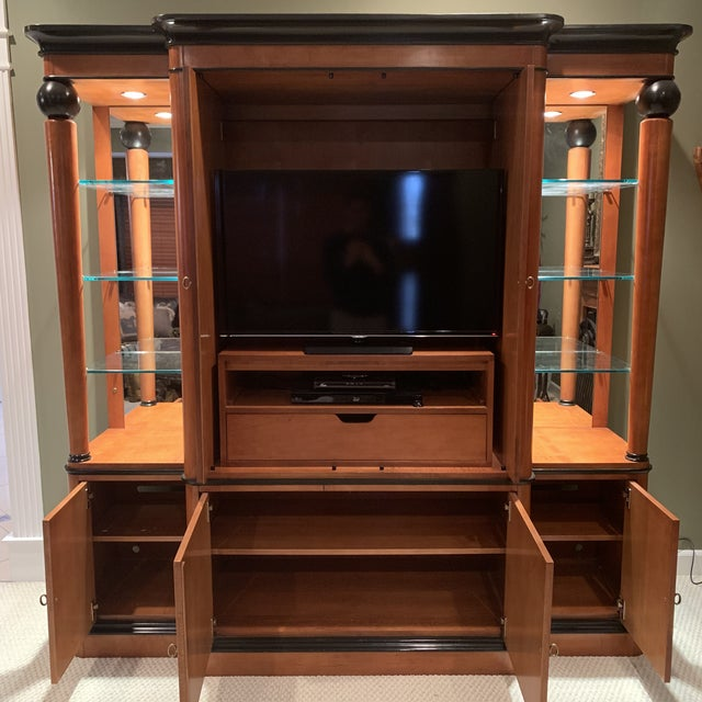1970s National Mount Airy Biedermeier Tv Armoire For Sale - Image 5 of 7