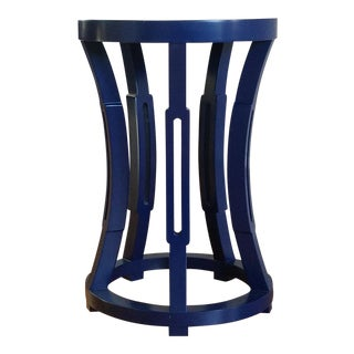 Navy Blue Hourglass Side Table/Stool