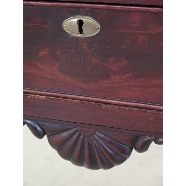 Chippendale Style Traditional Ball & Claw Mahogany Desk or Vanity For Sale - Image 10 of 13