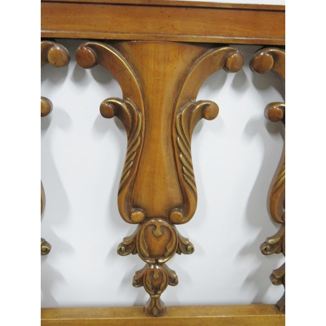 Italian Style Fruitwood Carved Kingsize Headboard For Sale - Image 4 of 5