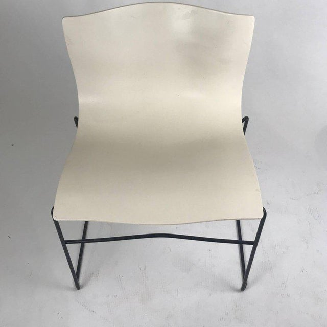 Black Knoll Massimo Vignelli Handkerchief Stacking Chair in Black & White For Sale - Image 8 of 10