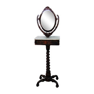 19th Century Victorian Shaving Mirror For Sale