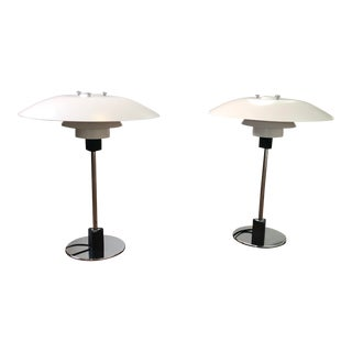 Mid-Century Modern 4/3 Table Lamps by Louis Poulsen - a Pair For Sale