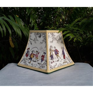 Toile Lampshade French Country Square Bell Preview