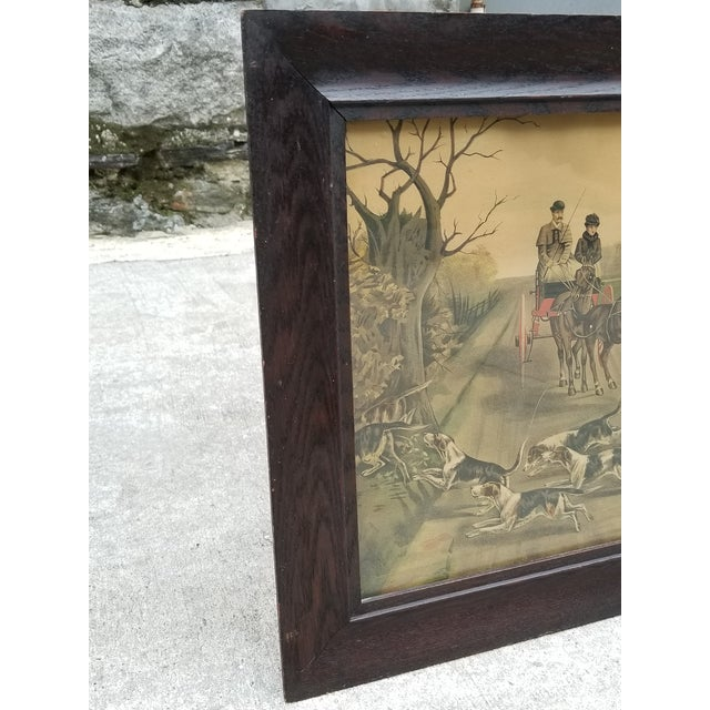 Mid 19th Century Antique English Hunting Framed Print For Sale - Image 5 of 13