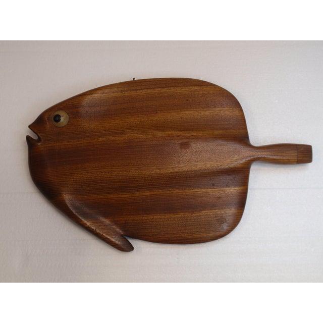 Modernist Folk Art Hand Carved Teak Wood Fish - Image 2 of 6