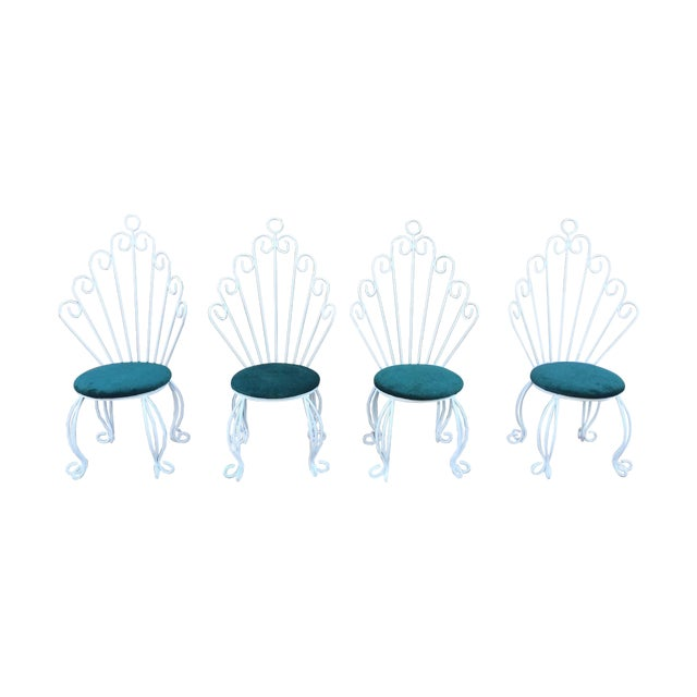 French Hollywood Regency Rod Iron Chairs - S/4 - Image 1 of 3