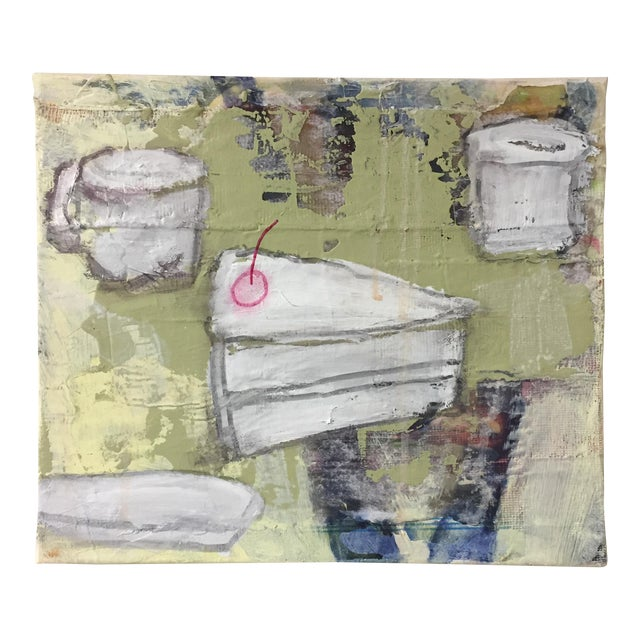 """Christine Bush Roman """"Piece of Cake"""" Painting - Image 1 of 5"""