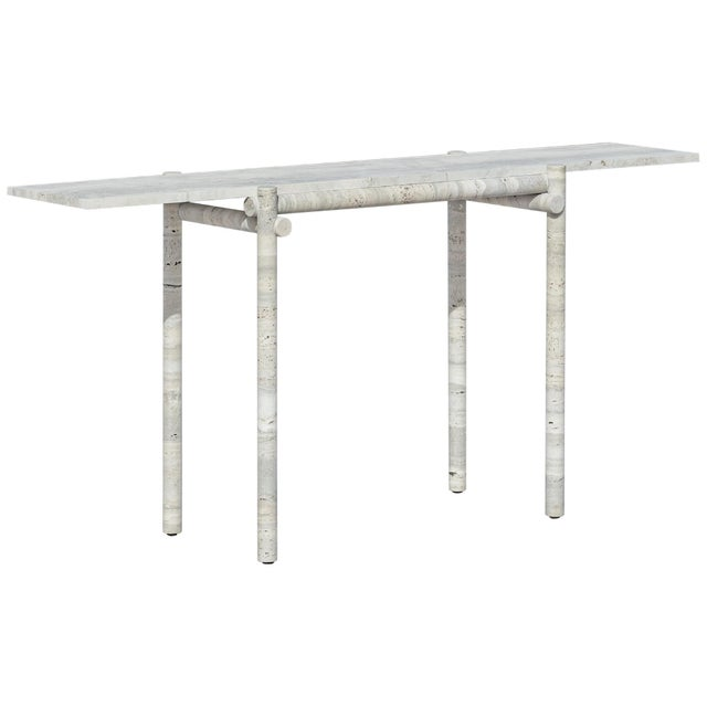 Original Ocean Travertine Console by Clement Brazille For Sale - Image 13 of 13
